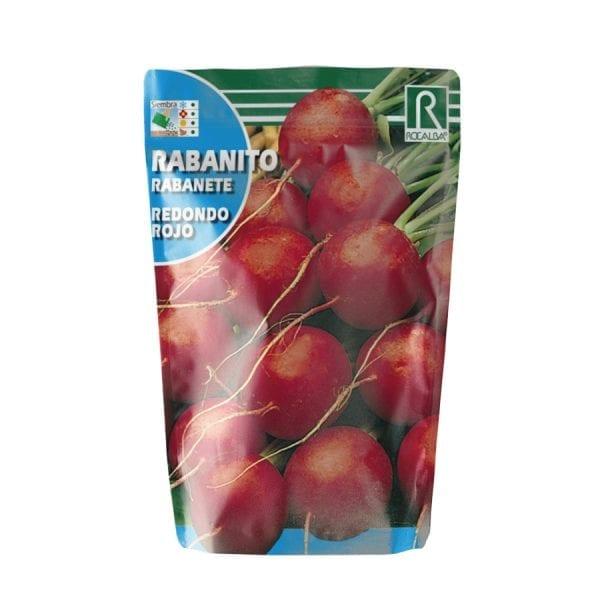 Semilla de rababito redondo rojo
